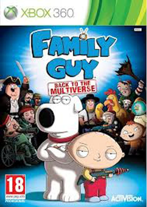Family Guy: Back To The Multiverse Video Game Back Title by WonderClub