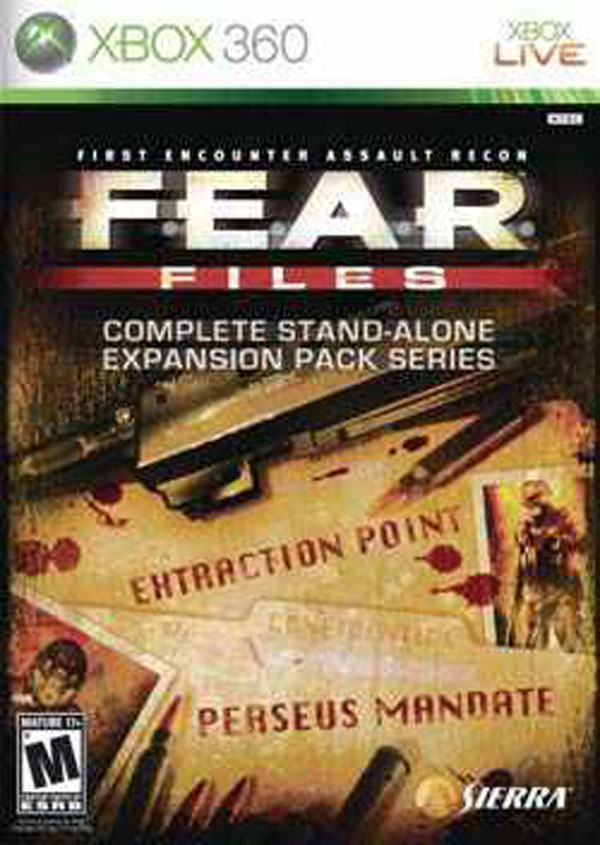 F.E.A.R. Files Video Game Back Title by WonderClub
