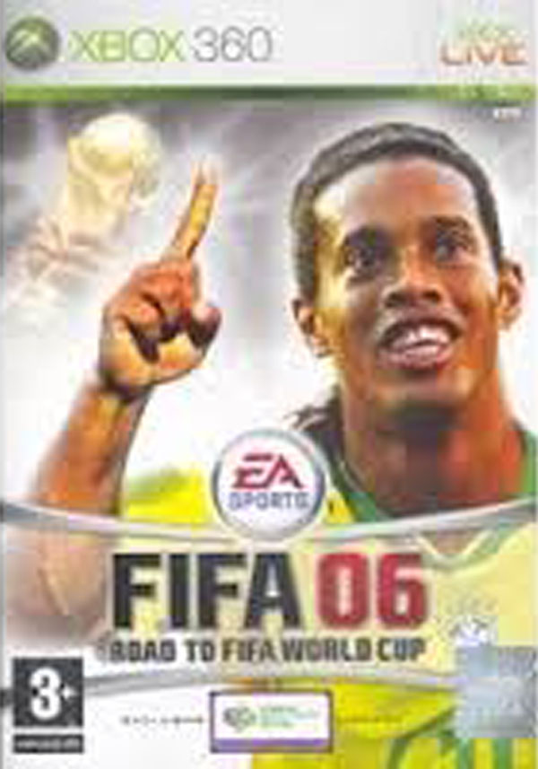 FIFA 06: Road To FIFA World Cup Video Game Back Title by WonderClub
