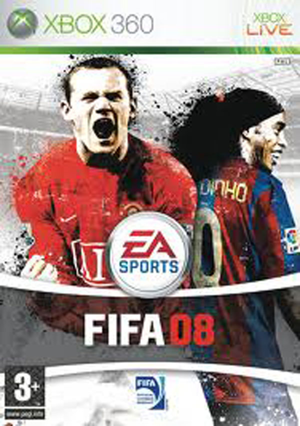 FIFA 08 Video Game Back Title by WonderClub