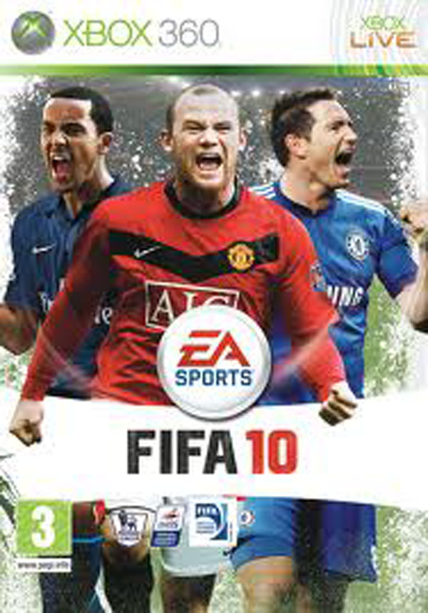 FIFA 10 Video Game Back Title by WonderClub