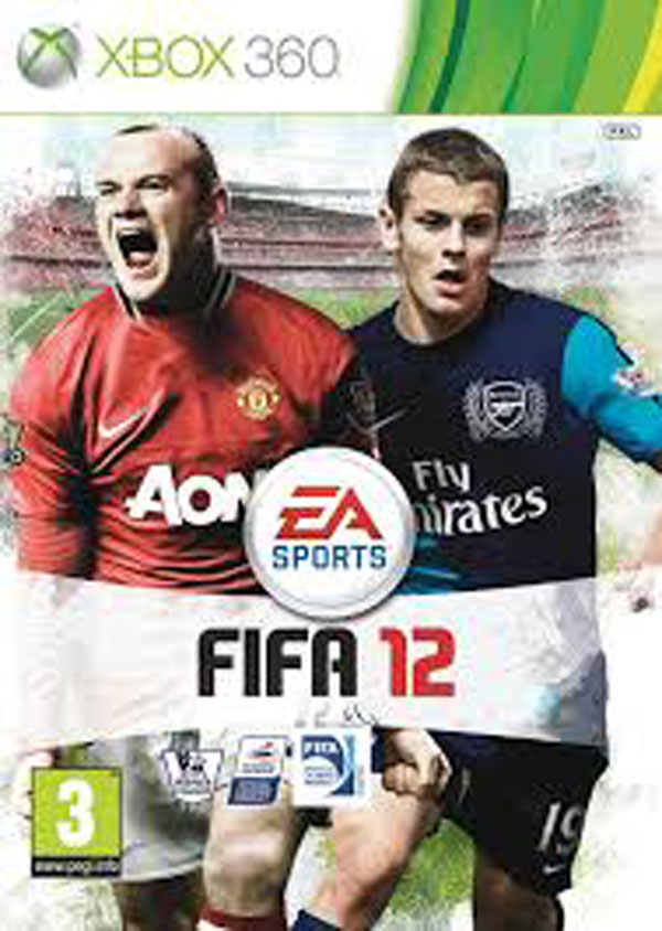 FIFA 12 Video Game Back Title by WonderClub