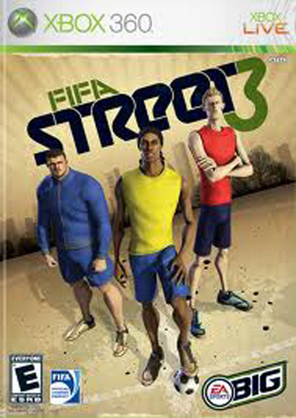 FIFA Street 3 Video Game Back Title by WonderClub