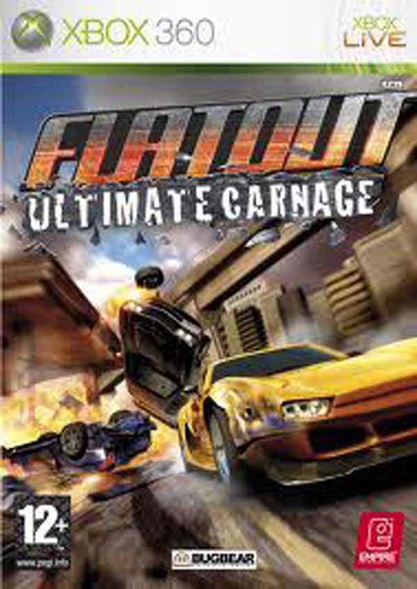 FlatOut: Ultimate Carnage Video Game Back Title by WonderClub