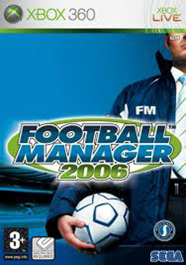 Football Manager 2006 Video Game Back Title by WonderClub