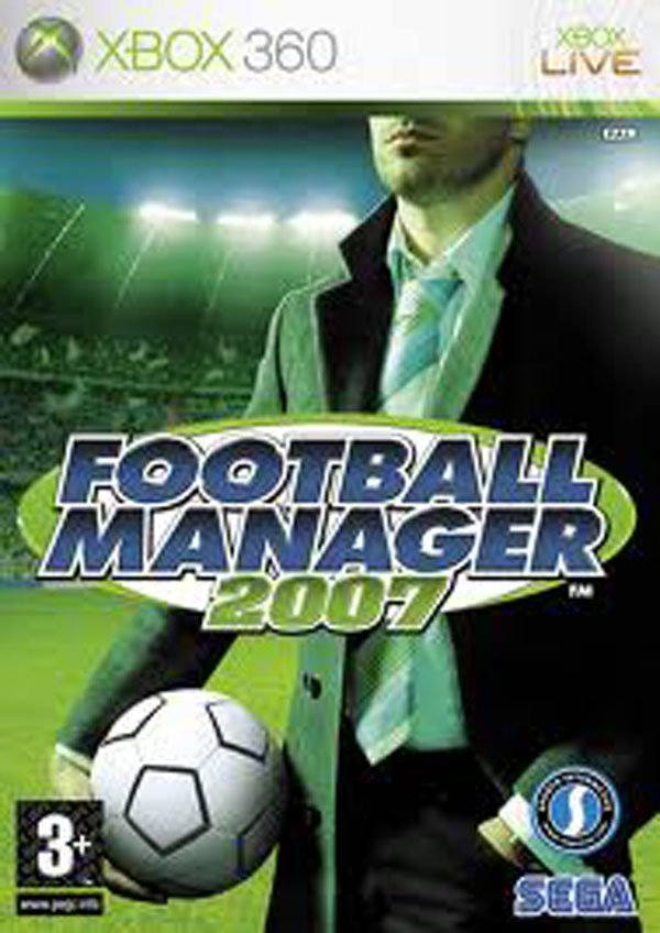 Football Manager 2007 Video Game Back Title by WonderClub