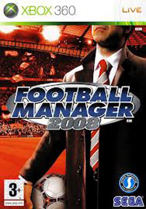 Football Manager 2008 Video Game Back Title by WonderClub
