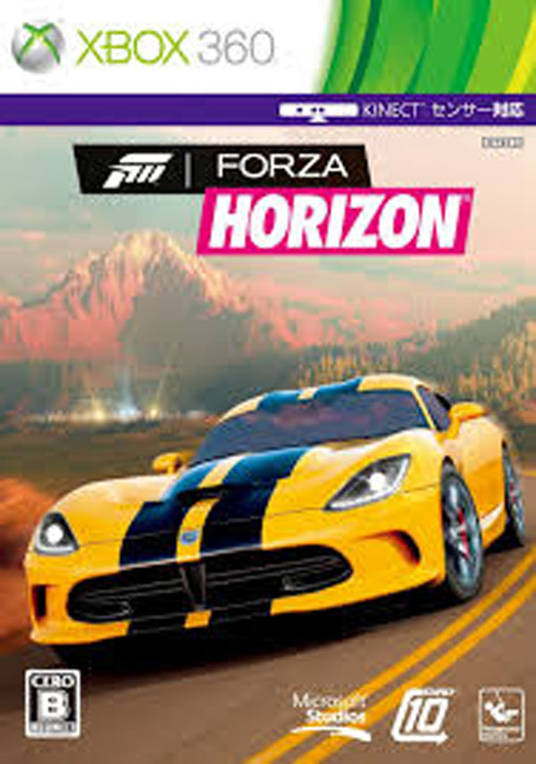 Forza Horizon Video Game Back Title by WonderClub