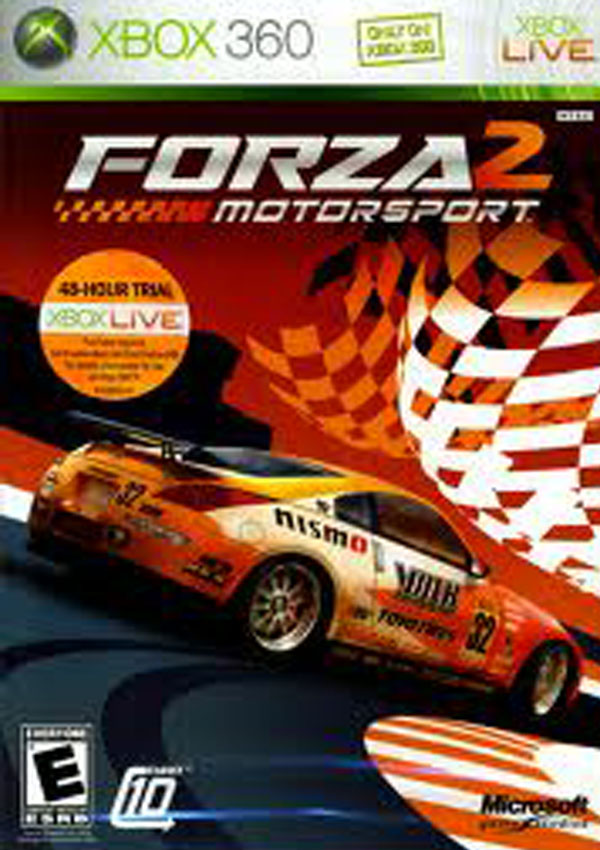 Forza Motorsport 2 Video Game Back Title by WonderClub