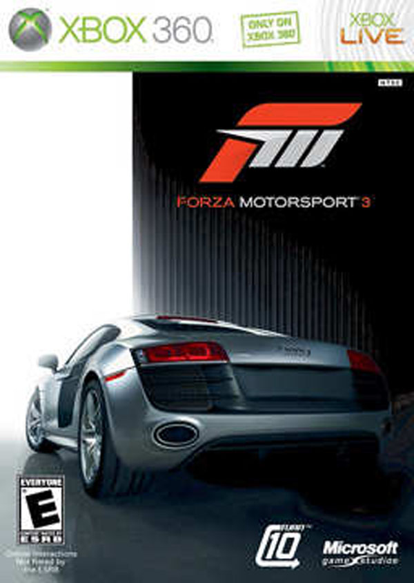 Forza Motorsport 3 Video Game Back Title by WonderClub