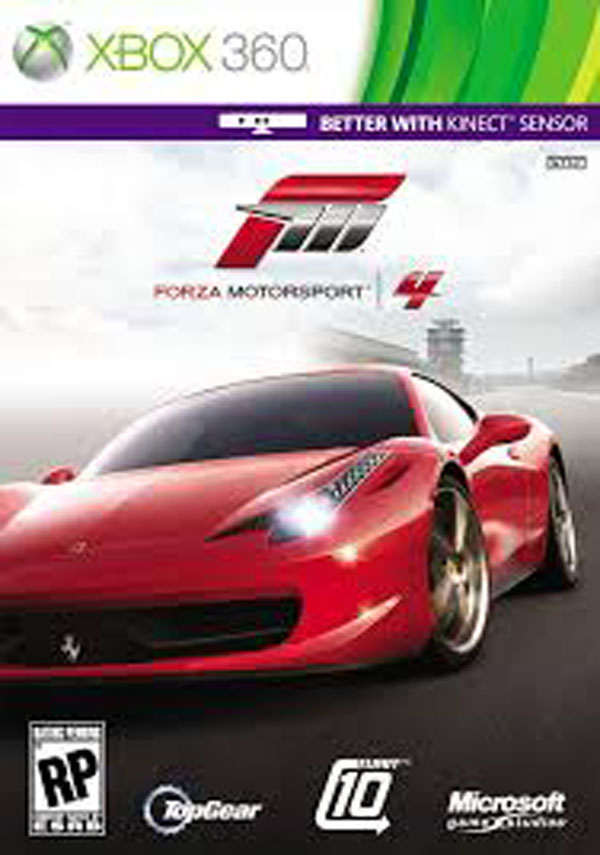 Forza Motorsport 4 Video Game Back Title by WonderClub