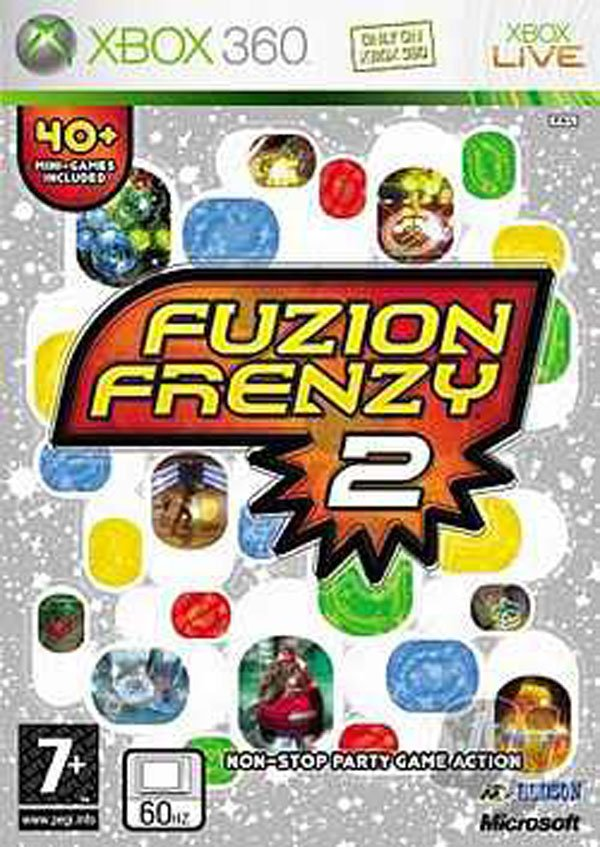 Fuzion Frenzy 2 Video Game Back Title by WonderClub