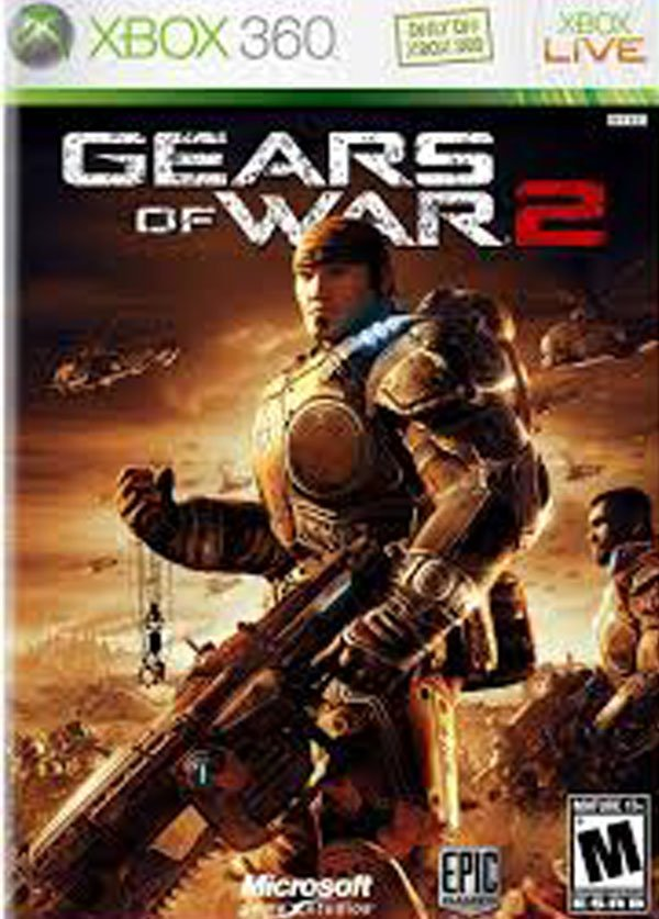 Gears Of War 2 Video Game Back Title by WonderClub