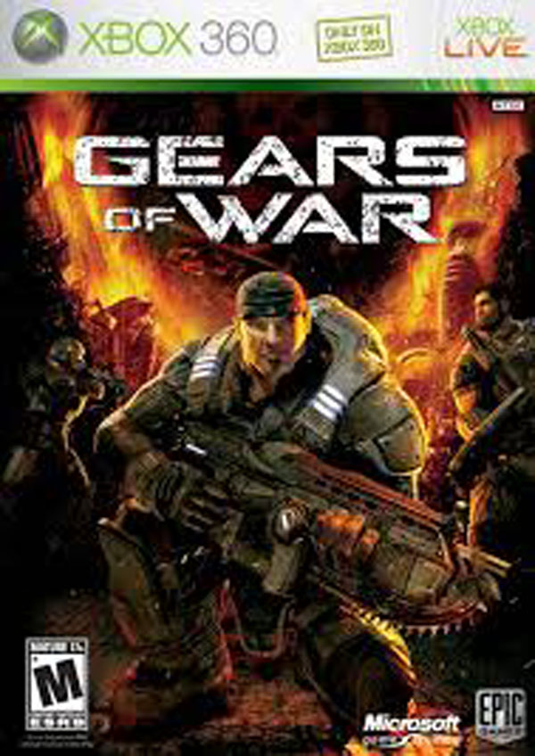Gears Of War Video Game Back Title by WonderClub