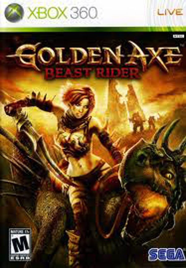 Golden Axe: Beast Rider Video Game Back Title by WonderClub