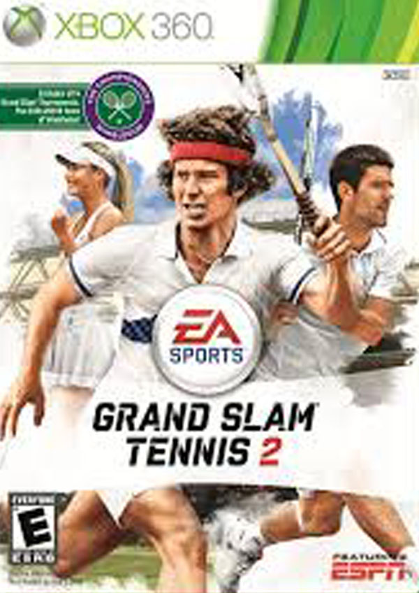 Grand Slam Tennis 2 Video Game Back Title by WonderClub