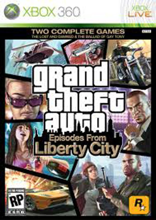 Grand Theft Auto: Episodes From Liberty City Video Game Back Title by WonderClub