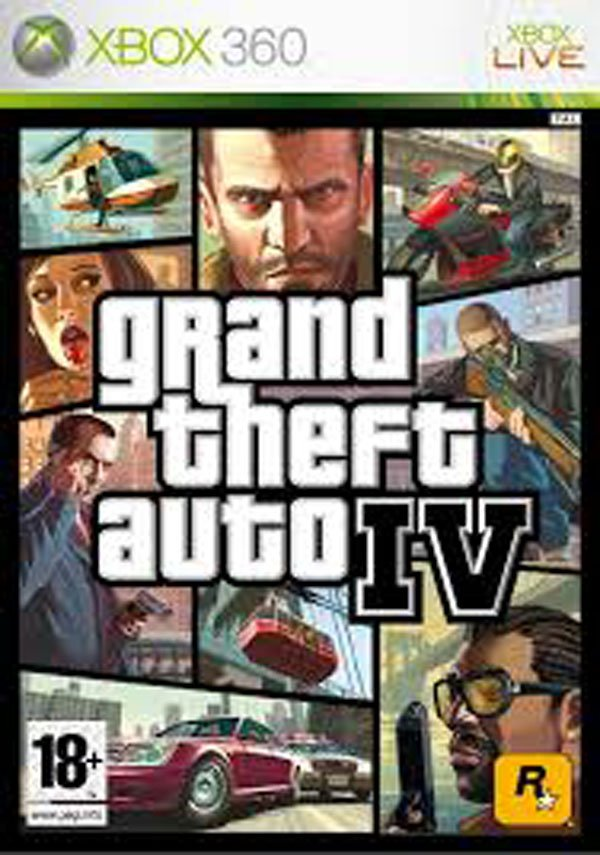 Grand Theft Auto IV Video Game Back Title by WonderClub