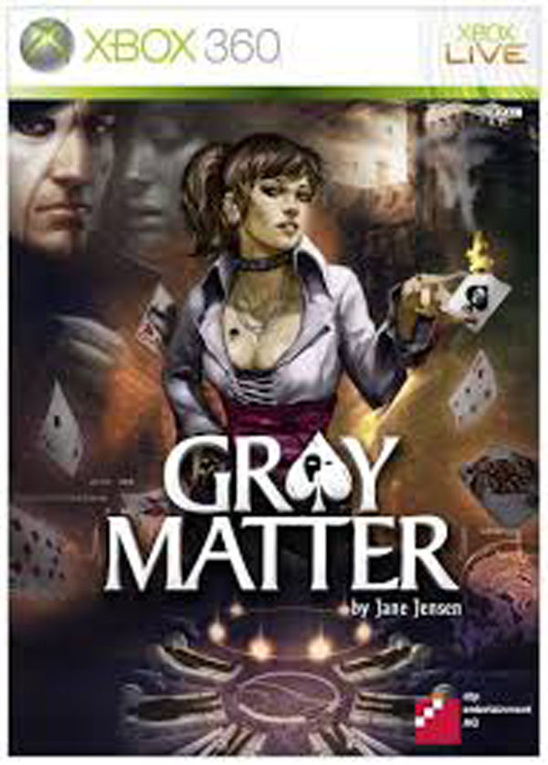 Gray Matter  Video Game Back Title by WonderClub