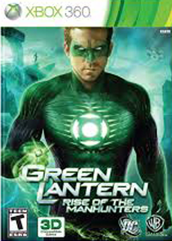 Green Lantern: Rise Of The Manhunters Video Game Back Title by WonderClub