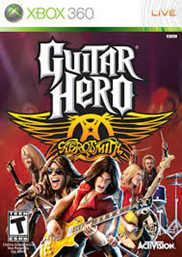 Guitar Hero: Aerosmith Video Game Back Title by WonderClub
