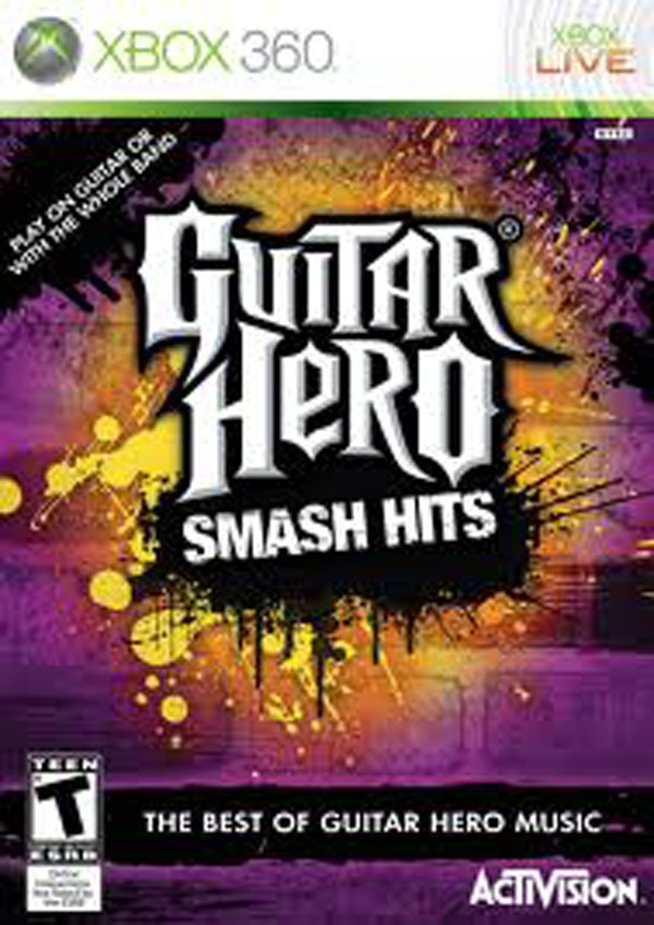 Guitar Hero Smash Hits Video Game Back Title by WonderClub