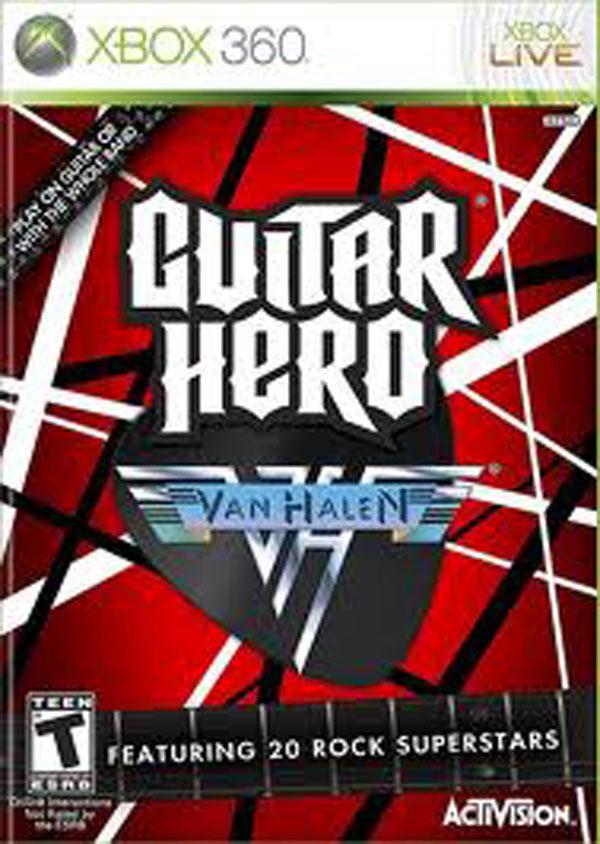 Guitar Hero: Van Halen Video Game Back Title by WonderClub