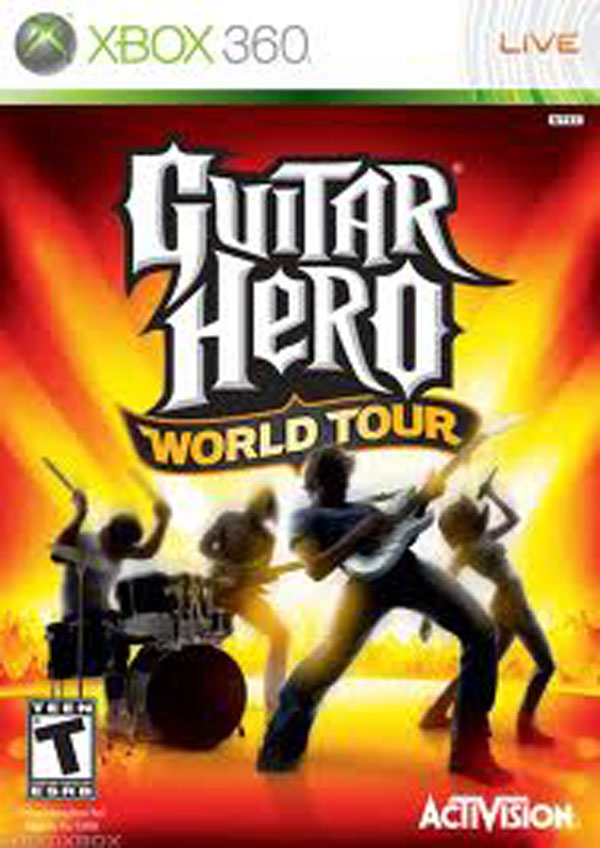 Guitar Hero World Tour Video Game Back Title by WonderClub