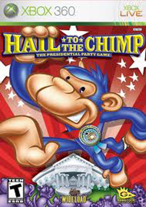 Hail To The Chimp Video Game Back Title by WonderClub