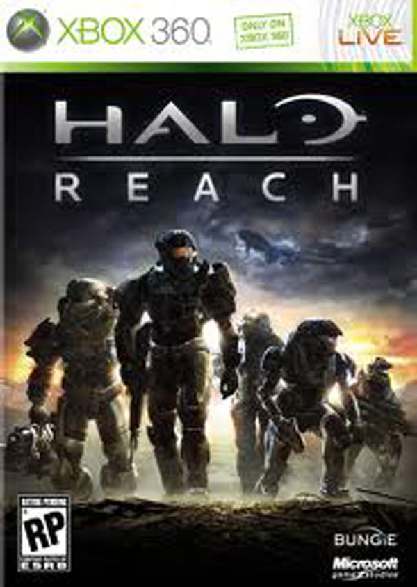 Halo: Reach Video Game Back Title by WonderClub
