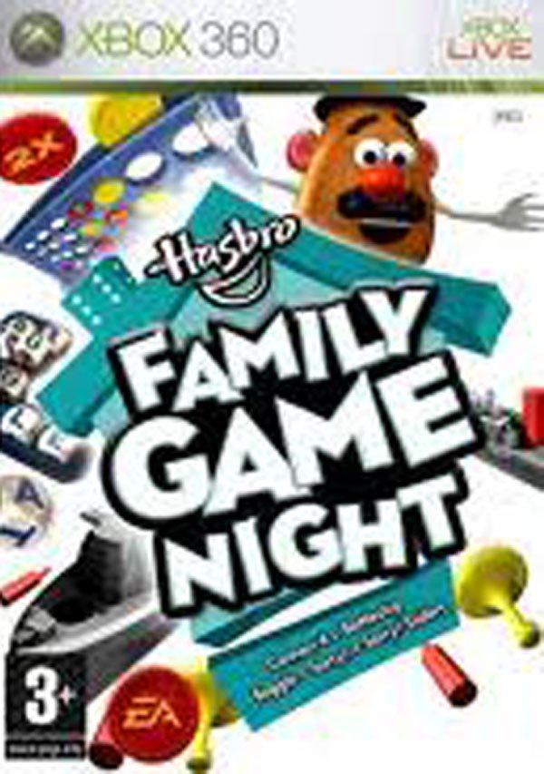 Hasbro Family Game Night Video Game Back Title by WonderClub