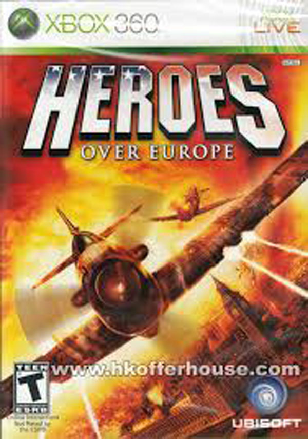 Heroes Over Europe Video Game Back Title by WonderClub