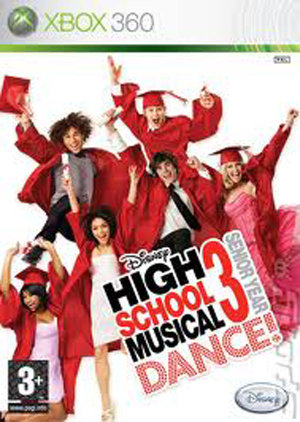 High School Musical 3: Senior Year Dance Video Game Back Title by WonderClub
