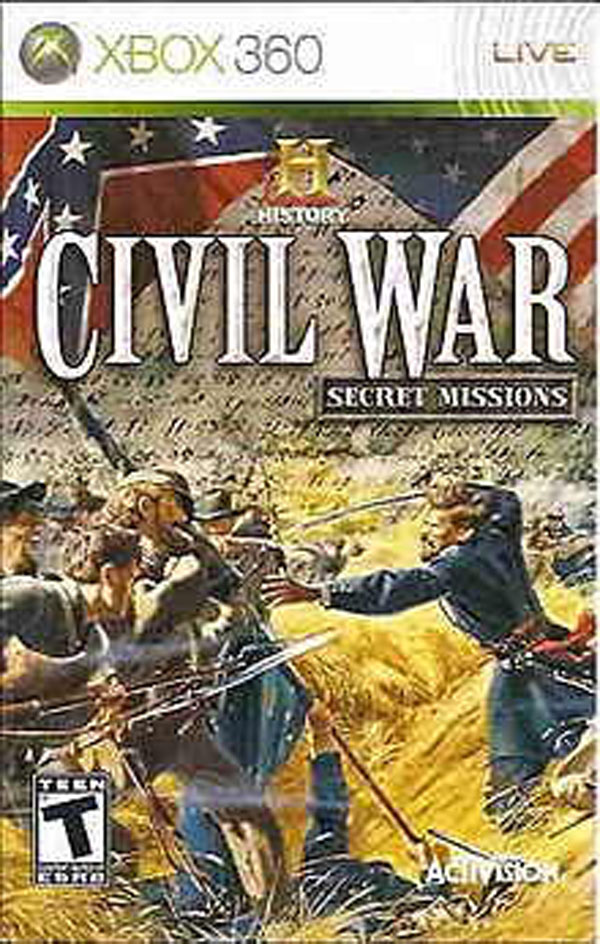 History Civil War: Secret Missions Video Game Back Title by WonderClub