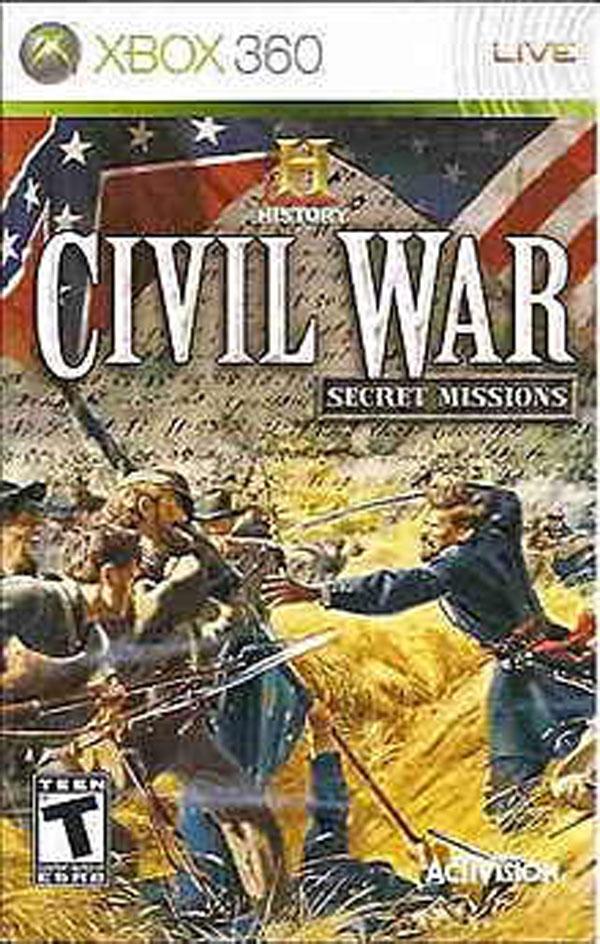 History Civil War: Secret Missions Video Game Back Title by WonderClub