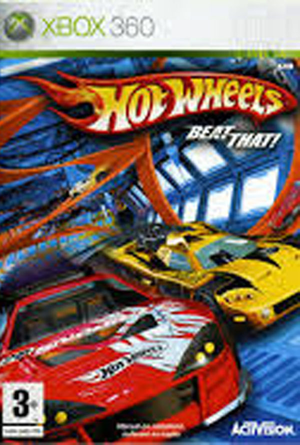 Hot Wheels: Beat That! Video Game Back Title by WonderClub