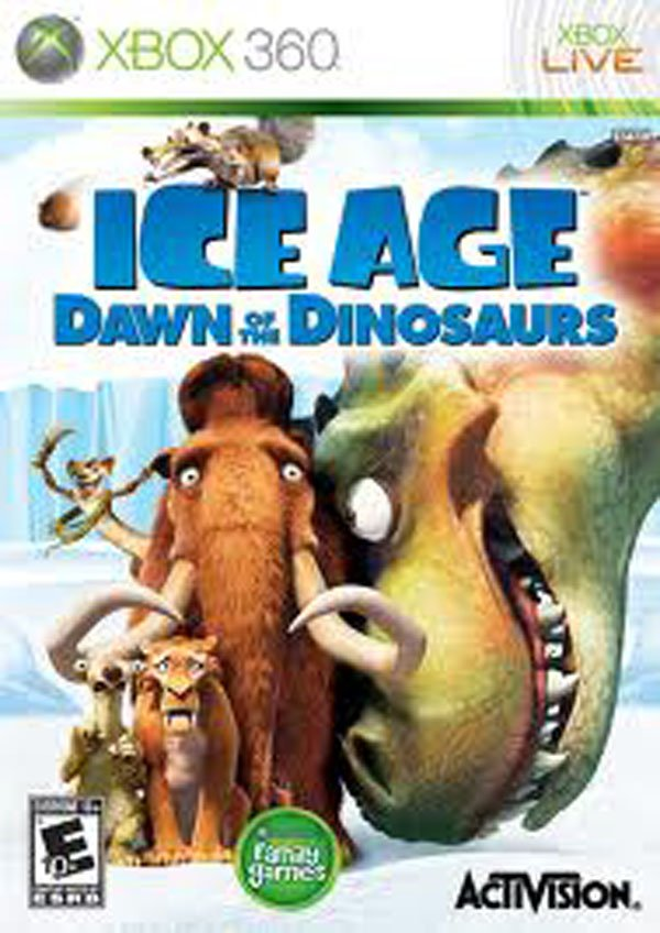 Ice Age: Dawn Of The Dinosaurs Video Game Back Title by WonderClub