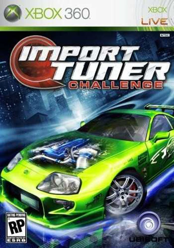 Import Tuner Challenge Video Game Back Title by WonderClub