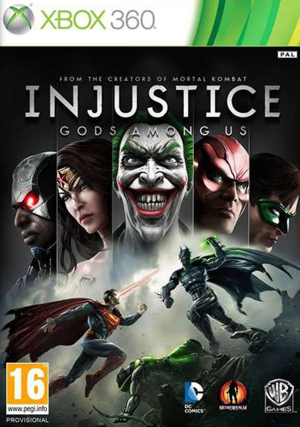 Injustice: Gods Among Us Video Game Back Title by WonderClub
