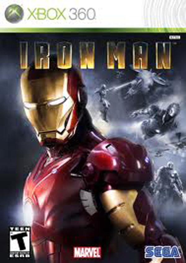 Iron Man  Video Game Back Title by WonderClub