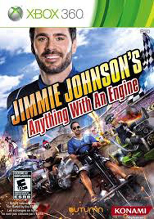 Jimmie Johnson's Anything With An Engine Video Game Back Title by WonderClub