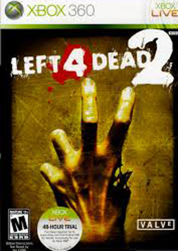 Left 4 Dead 2 Video Game Back Title by WonderClub