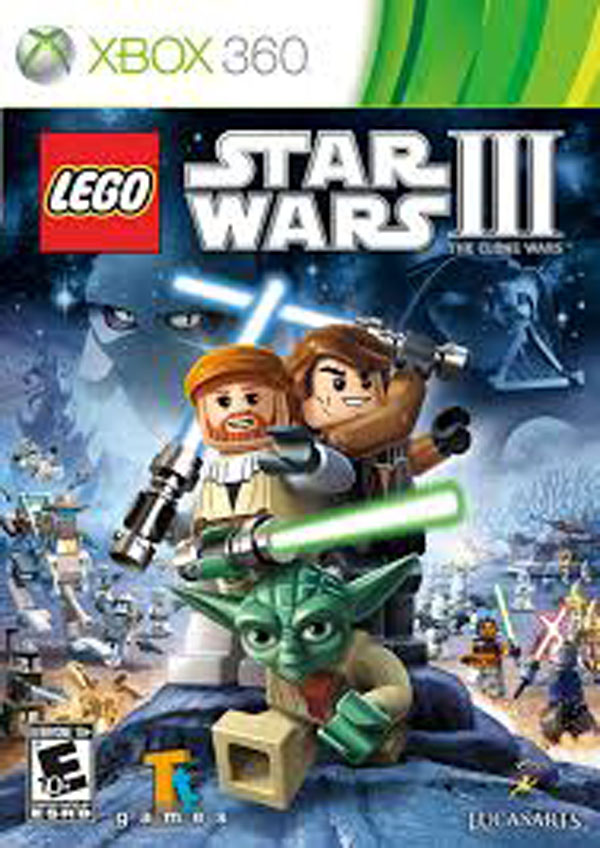 Lego Star Wars III: The Clone Wars Video Game Back Title by WonderClub