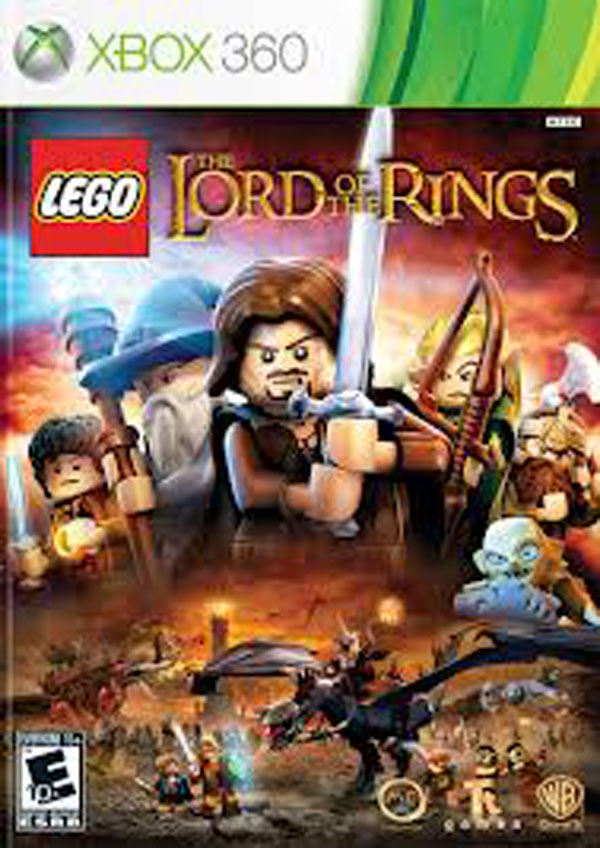 Lego The Lord Of The Rings Video Game Back Title by WonderClub