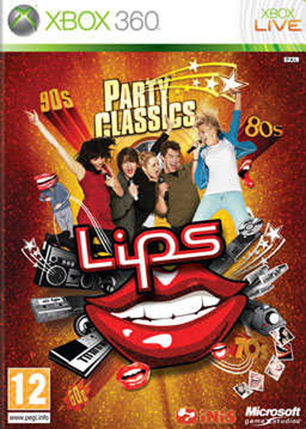 Lips: Party Classics Video Game Back Title by WonderClub
