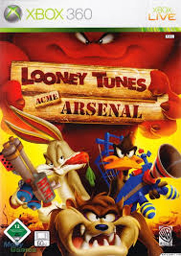Looney Tunes: Acme Arsenal Video Game Back Title by WonderClub