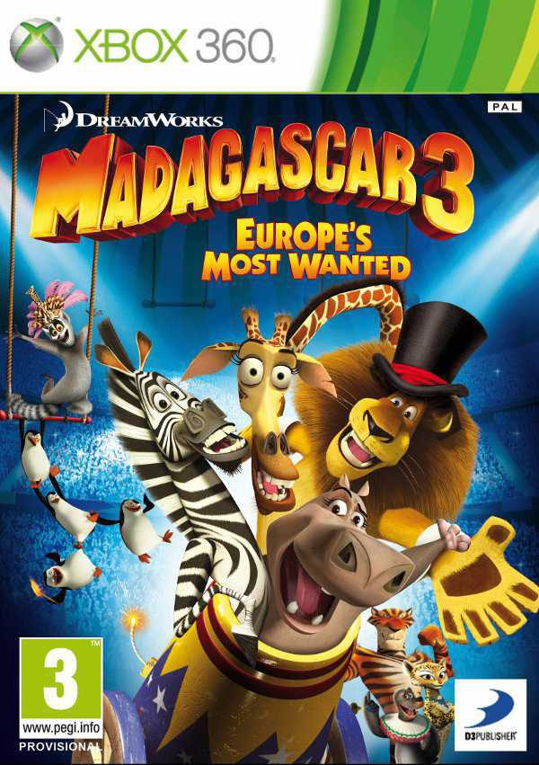 Madagascar 3: Europe's Most Wanted Video Game Back Title by WonderClub