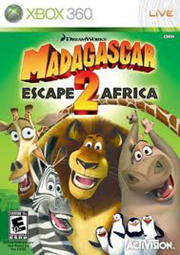 Madagascar: Escape 2 Africa Video Game Back Title by WonderClub