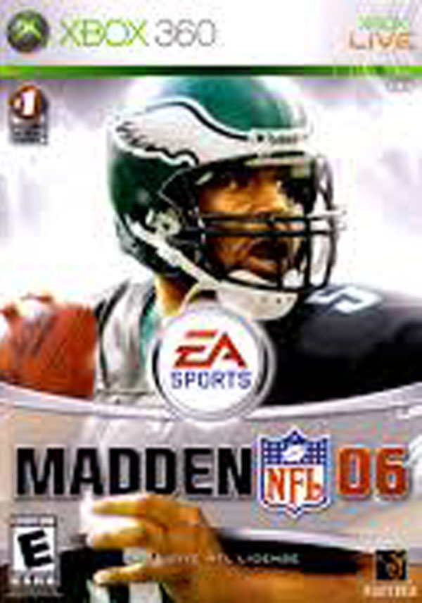 Madden NFL 06 Video Game Back Title by WonderClub