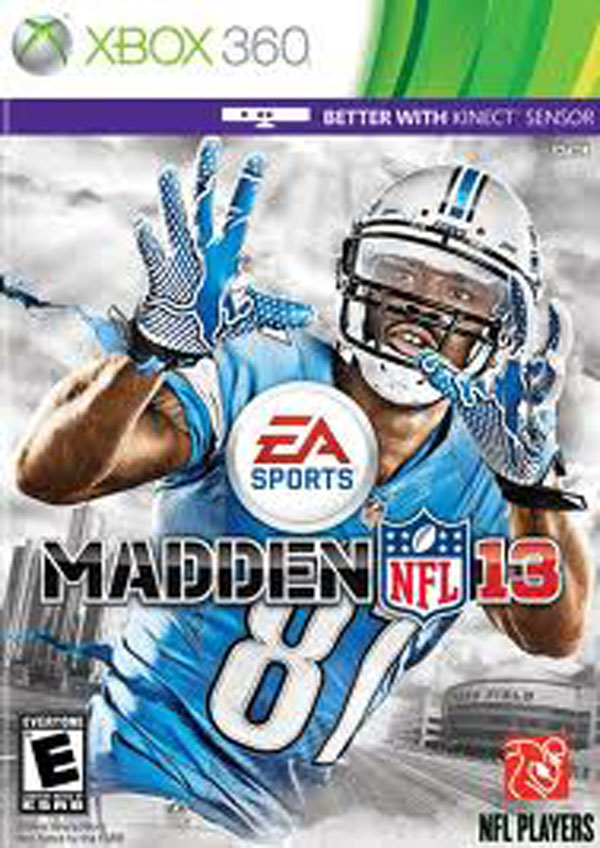 Madden NFL 13 Video Game Back Title by WonderClub